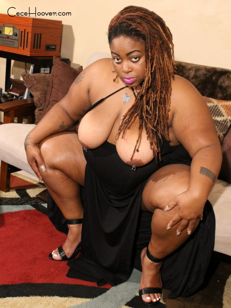Big tit ebony BBW, Cece Hoover