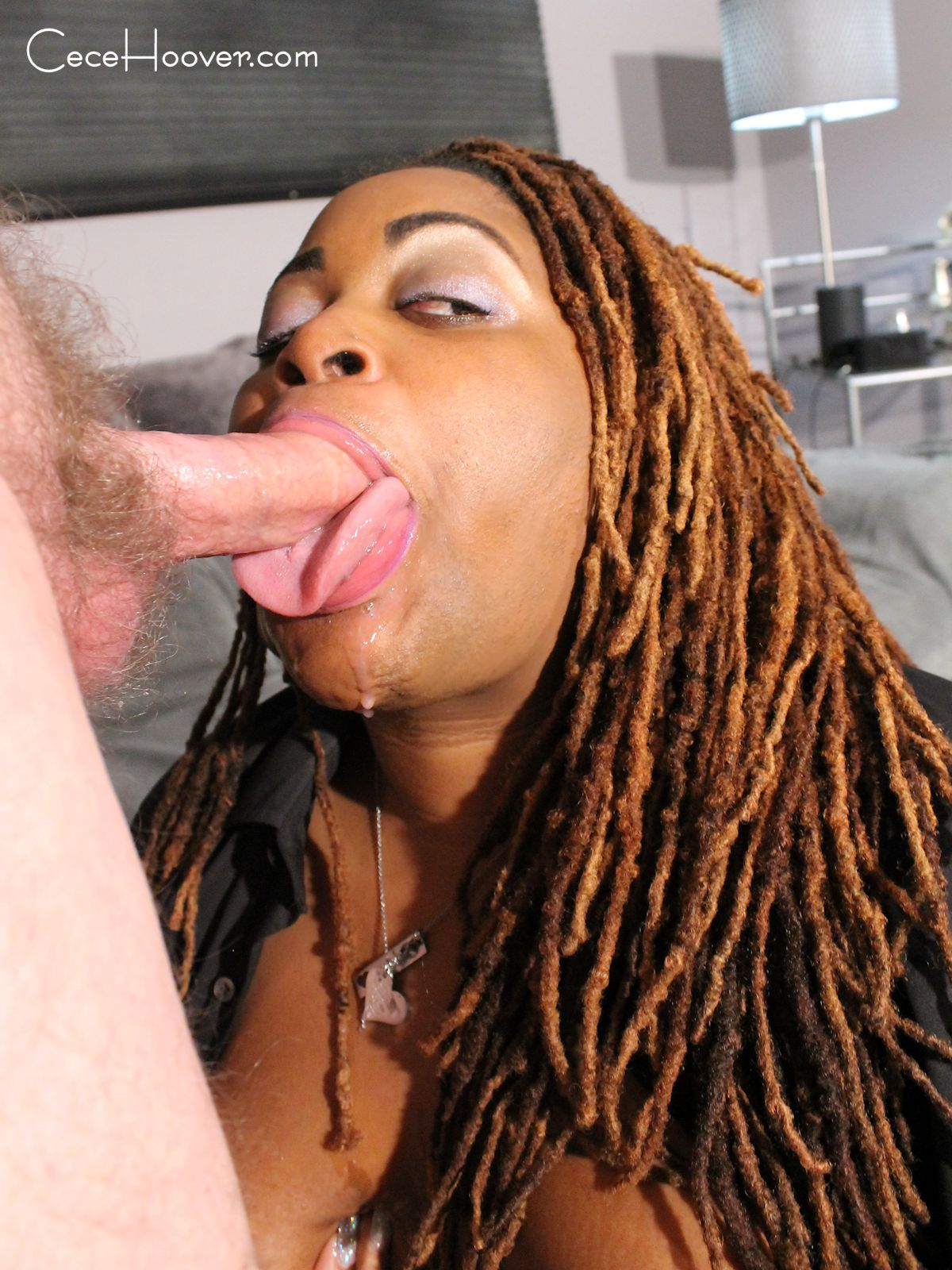 Ebony Mature Sucking Dick